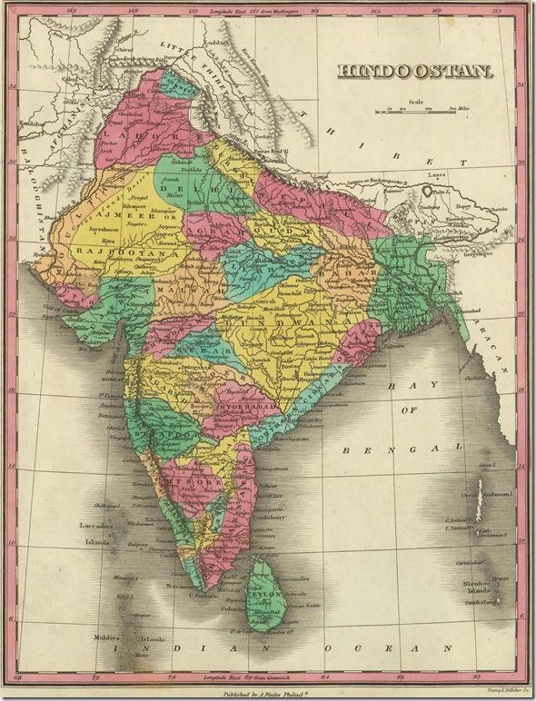Hindustan Hindoostan map 1831