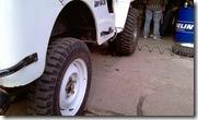 CJ3B Tyre change MAXXIS MUDZILLAS at Kartar tyre-14