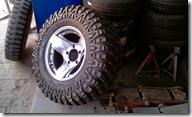CJ3B Tyre change MAXXIS MUDZILLAS at Kartar tyre-3