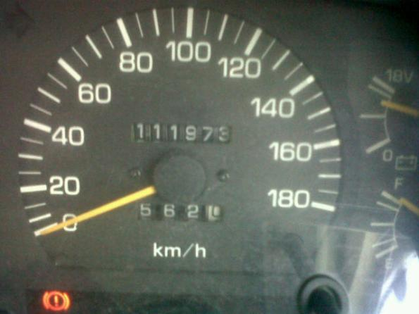 1st 10000 kms finally done...