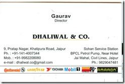 Gaurav Dhaliwal Jaipur Tyre Gary's brother