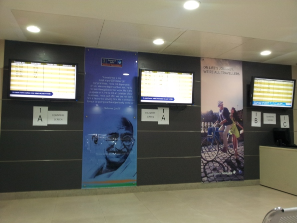 The Screens in the waiting Hall