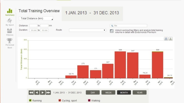 Harjeev 's Cycling Stats for 2013 on Endomondo
